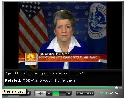 Janet on MSNBC phot op flyover