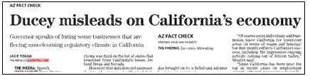 Ducey fact check ca