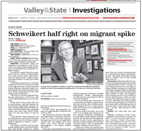 Schweikert fact check main