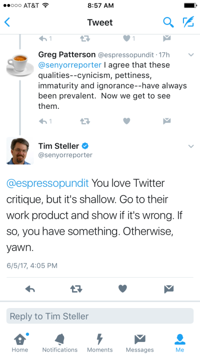 Great Advice from Tim Steller