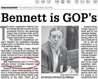 Bennett treasurer