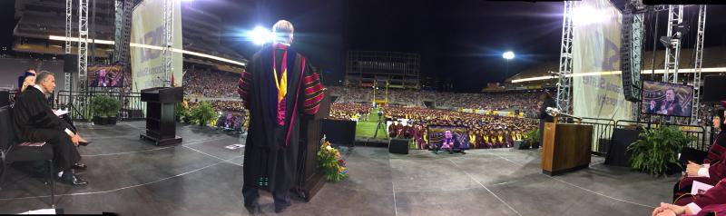 Panorama shot 2017 Graduation