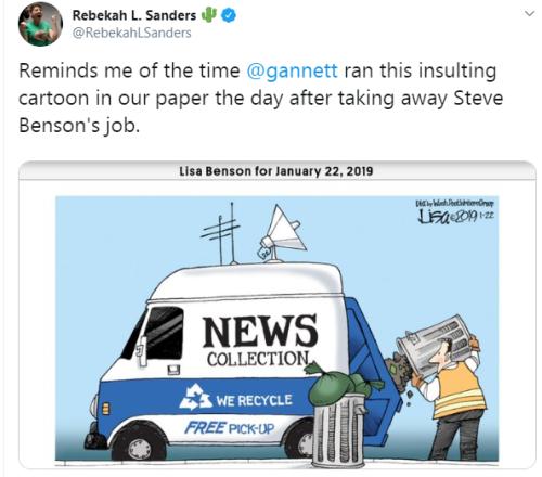 Sanders news truck