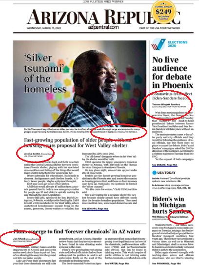 Woke front page