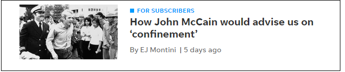 Montini on McCain again.