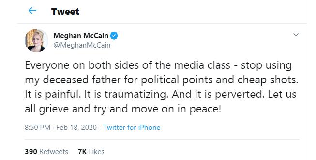 Meghan mccain plea