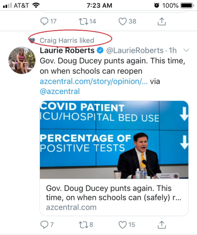 Harris likes Laurie