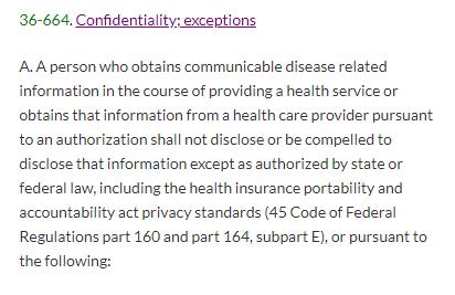 Confidentiality statute